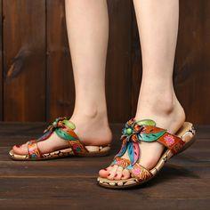 Lace Ballet Flats, Flip Flop Shoes, Designer Sandals, Cute Sandals, Soft Suede, Leather Sandals, Dress Shoes, Footwear, Leather Flowers