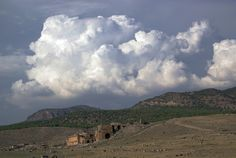 Beautiful clouds over the theatre of Hierapolis