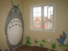 Magic Mural: Totoro and friends