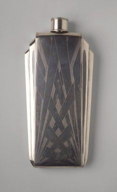 Art Deco flask, 1925-1930, great pattern for use on a wall in a Deco room, as an inset would be nice too.