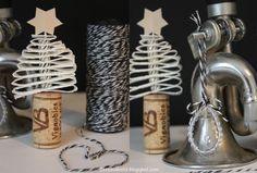 *BETTINA HOLST*: Mine små tapet juletræer...