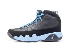 "new product 837b6 5d8c0 Air Jordan 9 Retro ""Slim Jenkins"" Black Matte Silver-University Blue  302370-045"
