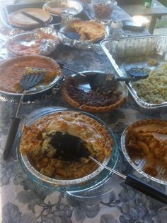 Covered dish lunches after church