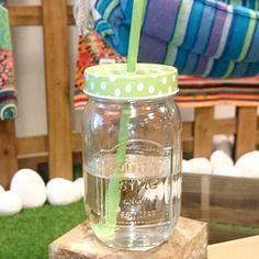 Vamos a disfrutar de algo #fresquito en nuestro #bote con #pajita ;) Encontrarlo en www.differentshop.es/botes-y-tarros/63-bote-con-pajita-verde.html