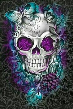 No skull, but love the colors