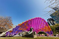 John Wardle Architects unveil ephemeral pavilion for the National Gallery of Victoria in Melbourne Melbourne Architecture, Eco Architecture, John Wardle, City Of Adelaide, Temporary Architecture, Melbourne Travel, Urban Intervention, Architecture Wallpaper, Victoria