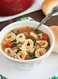 20-Minute Sausage and Tortellini Soup by Tracey's Culinary Adventures