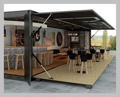 Container homes, offices, coffee shops, bars designed and built by Strakx www.fustaiferro.com https://fustaiferro.wordpress.com/
