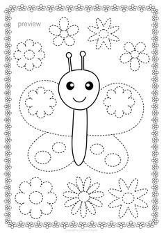 writing Butterflies Trace and Color Pages {Fine Motor Skills + Pre-writing} Motor Skills Activities, Kids Learning Activities, Fine Motor Skills, Preschool Activities, Preschool Writing, Kindergarten Worksheets, Worksheets For Kids, Alphabet Worksheets, Cursive Alphabet