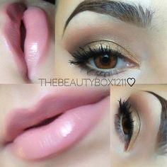 Mac Creme Cup + Boy bait lipgloss=Perfect pink lip