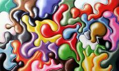 Kenny Scharf three faces of Jackie and Oglob 1997 1998 Kenny Scharf, Classical Realism, Painting Collage, Binder Covers, Elements Of Art, World Of Color, Art Pages, Contemporary Paintings, Installation Art