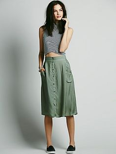 Marina Buttondown Skirt