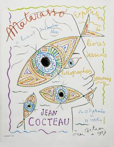Matarasso (gallery exposition poster) by Jean Cocteau