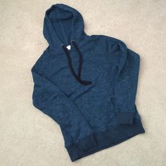 Teal Hoodie Super soft and cozy hoodie. Black drawstrings and pocket. Fits a small for slightly oversized fit and medium for a normal fit. Not Urban Outfitters I received it as a gift and do not know where it's from. Only worn once. Urban Outfitters Jackets & Coats