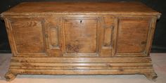 18th C Pine and Fruitwood coffer. 1760. Not oak I'll admit, but well worth re-pinning for it's colour alone.