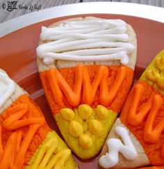 Candy Corn Sugar Cookies ~