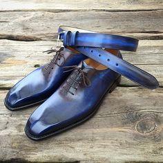 """""""Nové ručně barvené #boty v kompletu s opaskem z naší dílny"""""""