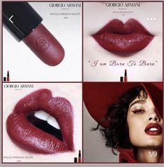 Diy Beauty, Beauty Makeup, Fashion Beauty, Glossy Lips, Red Lips, Makeup Inspo, Makeup Tips, Giorgio Armani Beauty, Korean Makeup