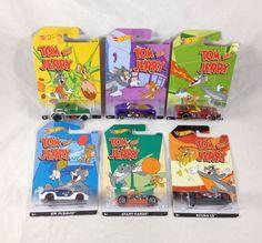 Hot Wheels Tom and Jerry 1 2 3 4 5 6 Walmart Exclusive 2015 Original Cartoon Set #HotWheels