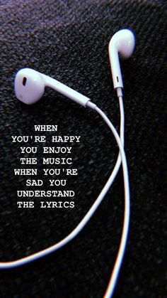 Enjoy the music Wallpaper - Musik - Wallpaper New Quotes, Mood Quotes, True Quotes, Inspirational Quotes, Motivation Quotes, Missing Quotes, Heart Quotes, Meaningful Quotes, Short Sad Quotes