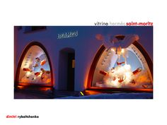 Hermès - Vitrines événementielles magasin Hermès Saint-Moritz by Dimitri Rybaltchenko