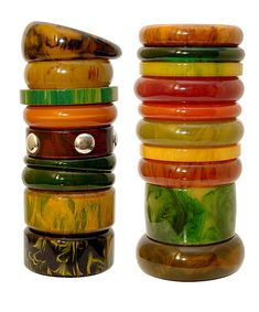 More Bakelite Bangles, 1930s/40s by galessa's plastics, via Flickr