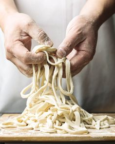 Homemade Udon Noodles Recipe from Chef Morimoto ~ http://steamykitchen.com