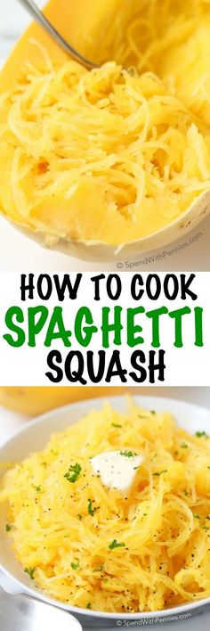 Spaghetti Squash is literally one of my favorite veggies year round. It is delicious, filling and it makes a great low carb substitute for pasta dishes or in soups! Just a little bit of butter or olive oil and salt & pepper turns it into a simple side.