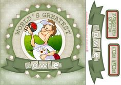 Lawn Bowls Lady Red Shabby Chic 8x8 on Craftsuprint designed by Gordon Fraser - Lawn bowls Lady goes for the jack! Easy to make 8x8 quick card with decoupage and sentiment tiles. (This Dudess also has her own kit!) Please have a look at my other Dudes and illustrations. Just click on my name! - Now available for download!