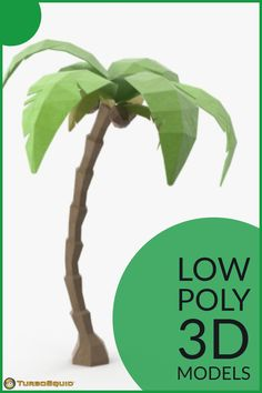 Low Poly Palm Tree 01 by Royalmix