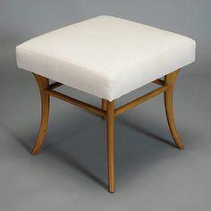 Robsjohn Gibbings Sabre Leg Stool.   For Whitticomb. #midcentury #modern #furniture #design #michaans