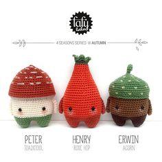 lalylala 4 SEASONS amigurumis AUTUMN toadstool rose by #lalylala #crochet #amigurumi #LoveIt #pattern