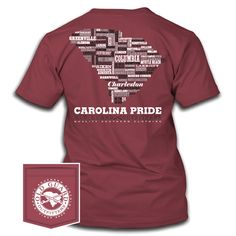 South Carolina Letterpress Carolina Pride, South Carolina, Comfort Colors, Letterpress, The Originals, Prints, Cotton, Mens Tops, T Shirt