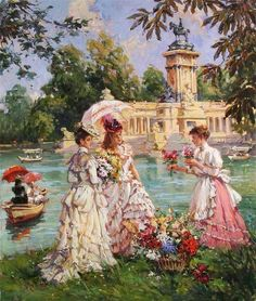 You too can be an artist when you paint with Diamonds! Every kit gives you a chance to create a work of art you can be proud of. This diamond painting kit Victorian Paintings, Victorian Art, Victorian Women, Images D'art, Renaissance Kunst, Art Ancien, Classic Paintings, Cross Paintings, Classical Art