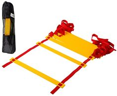 CQ Wellness AL1YL Adjustable Flat Rung Agility Ladder with Free Carry Bag -- More info could be found at the image url.