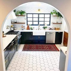 """4,898 Likes, 43 Comments - C o l l e c t i v   C o. (@collectivco) on Instagram: """"Ummm hello kitchen GOALS!!  @anomadathome your kitchen is giving me new life! That arch, the…"""""""