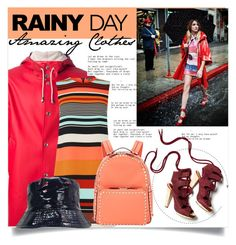 """""""Rainy Day Clothes"""" by rosalie45 ❤ liked on Polyvore featuring Stutterheim, Warehouse, Valentino and Derek Lam"""