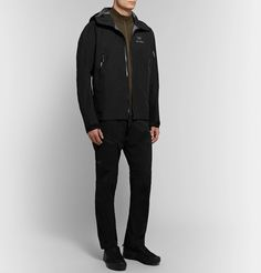 Arc'teryx Beta Lt Gore-tex Hooded Jacket In Black Gore Tex, Hooded Jacket, Hoods, Trousers, Leather Jacket, Mens Fashion, Jackets, Shopping, Clothes