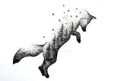 http://www.deviantart.com/art/Fox-Double-Exposure-617068570                                                                                                                                                                                 Más