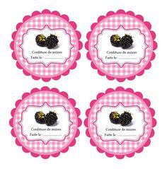 Zpracovatelský blackberry jam štítky pro tisk
