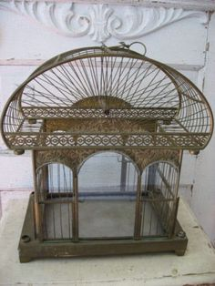 Art nouveau birdcage. Sice sold and photo no longer on Ebay.