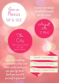 plexus sip and see images - Google Search Plexus Ambassador, Sip And See, Plexus Slim, Pink Drinks, See Images, Gut Health, House Party, Plexus Products, Feel Better