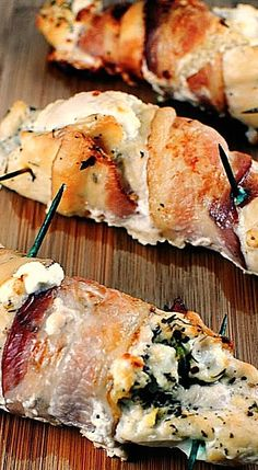Cheese Stuffed Chicken with Bacon ^