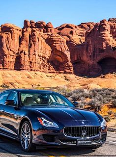 Maserati Quattroporte. My cousin has one of these that I threw up in one time. Worst day ever. Smooth ride though