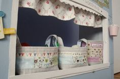 fabric baskets- i really need these to organise my bedroom- on to do list