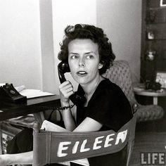 Portrait of business woman Eileen Ford, co-founder of the Ford Modeling Agency, as she listens on the telephone. Photo: Nina Leen for LIFE Magazine, 1948.