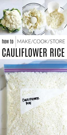A step-by-step guide and tutorial all about Cauliflower Rice- including How to Make Cauliflower Rice right at home in less than 10 minutes! Delicious, vegan, and gluten-free, enjoy this low-carb veggie alternative with all your favorite recipes! How To Make Cauliflower, Cauliflower Fried Rice, Cauliflower Recipes, Korma, Low Carb Veggie, Califlower Rice, Rice Recipes For Dinner, Low Carb Side Dishes, Cooking Recipes