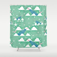 Buy Sea unicorn - Narwhal green Shower Curtain by susycosta. Worldwide shipping available at Society6.com. Just one of millions of high quality products available.