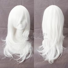 2016 New LOL League of Legends Ashe Long White Wig Game Cosplay Hair Halloween Party Cosplay Wig + Free Wig Cap(China (Mainland))