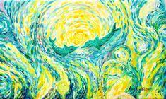Dolphins original impressionistic oil painting, Van gogh inspired dolphins oil painting, Dolphins in the ocean oil painting, Oil paintings Dolphin Painting, Dolphin Art, Rembrandt, Oil Painting On Canvas, Canvas Art, Original Paintings, Original Art, Van Gogh Art, Animal Paintings